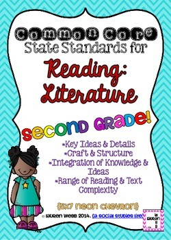 2nd grade ELA Reading Literature Common Core Posters