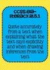 5th grade ELA Reading Literature Common Core Standards Posters