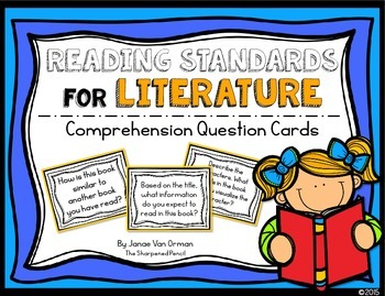 Reading Literature Comprehension Question Cards {CCSS Aligned}