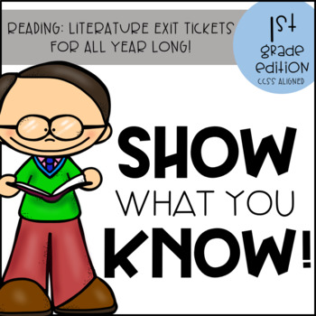 Reading Literature Exit Tickets CCSS Aligned Standards Based