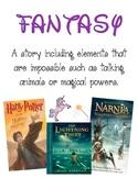 Reading Literature Genre Posters - Set of 10