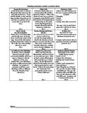 Reading Literature, Grade 4, Common Core Activity Menu/Lit