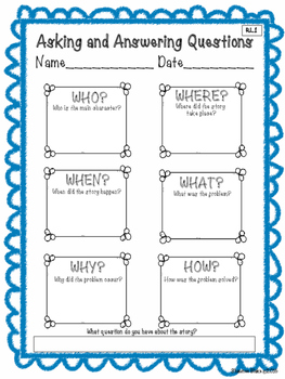 Reading Literature Graphic Organizer Sample