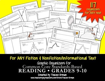 Reading Informational & Literature Graphic Organizers Gr 9-10