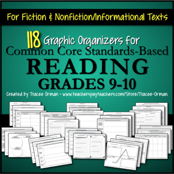Common Core Reading Informational & Literature Graphic Org
