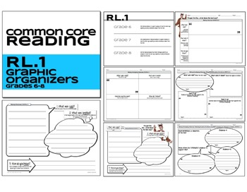 Reading Literature Graphic Organizers RL.1 Grades 6-8