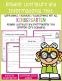 Reading: Literature & Informational Text Activities (Kindergarten Common Core)