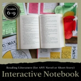 Reading Literature Interactive Notebook: Grades 6-9