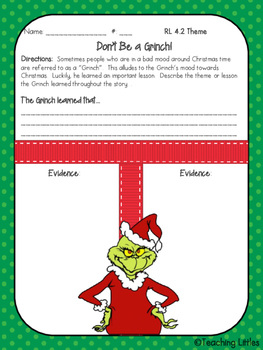 "Reading Literature & Language ""How the Grinch Stole Christmas"" Unit"