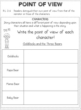 Reading Literature Reference Notebook PLUS! -- Third Grade CCSS
