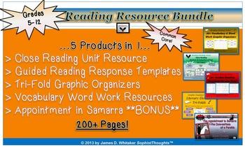 Reading Literature Resource Bundle Common Core