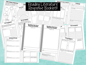 Reading Literature Response Booklet for ANY BOOK!!  CCSS Aligned!!