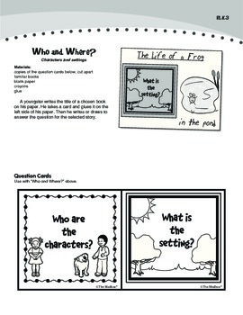 Reading Literature: Story Elements (Common Core RL.K.3)