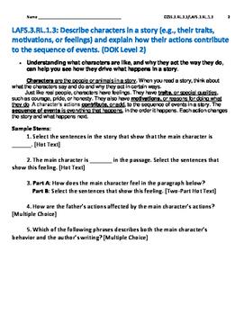 Reading Literature Text RL.3.3