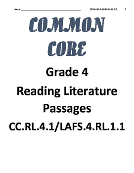 Reading Literature Text RL.4.1