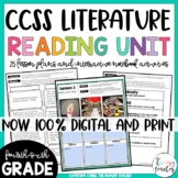 Reading Literature Unit | 4th 5th and 6th | Digital | Distance Learning
