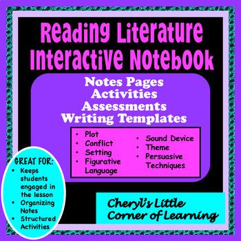 Reading Literature Vocabulary/Literary Device Interactive Notebook Bundle