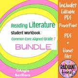 Reading Literature Workbook Grade 7 Common Core aligned BU