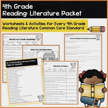 Reading: Literature Worksheets & Activities: 4th Grade Common Core