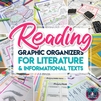 Reading Graphic Organizers Activity Bundle: Literature and Informational Texts