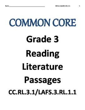 Reading Literature test RL.3.1