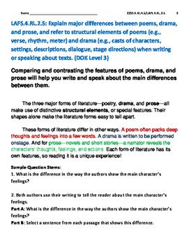 Reading Literature text RL.4.5