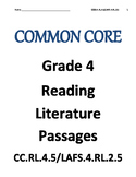 Reading Literature text RL.4.5