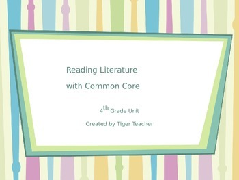 Reading Literature with Common Core: 4th Grade (powerpoint)
