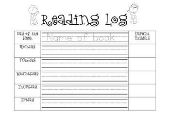 Student Friendly Reading Log