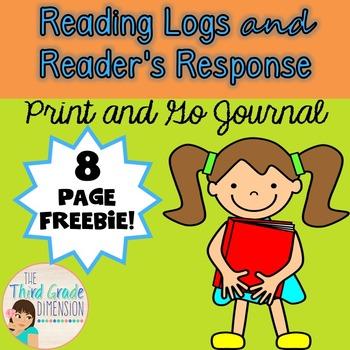 Reading Log and Journal Freebie