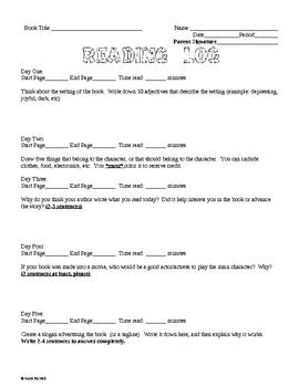 Reading Log #14 - Weekly Homework