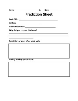 Prediction Sheet