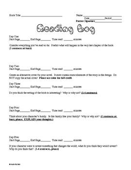Reading Log #17 - Weekly Homework