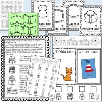 Fun K-1 Home - Reading Log (Alternative)