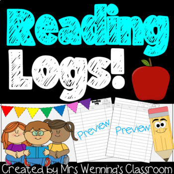 Reading Log for Primary Students