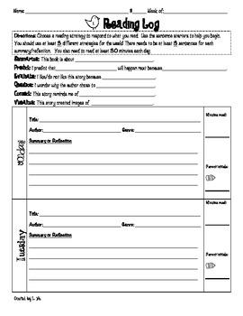 Reading Log: 1st-2nd Grade {FREEBIE}