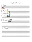 Reading Log 1st Trimester Common Core Standards