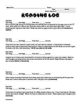 Reading Log #20 - Weekly Reading Log