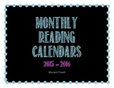 Reading Log 2015 - 2016 Monthly Calendars