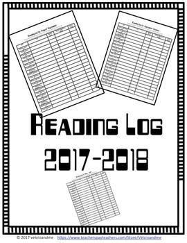 Reading Log 2017-2018