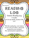 Reading Log *New and Improved