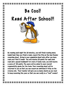 Easy Year-long Reading Log