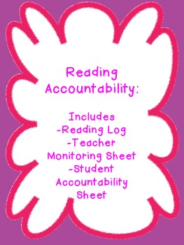 Reading Log Accountability Set