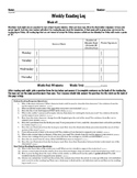 Text Based Reading Log Aligned to FL Standards/Common Core--Parent Signature