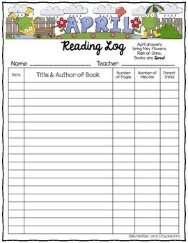 Reading Log {April Showers}