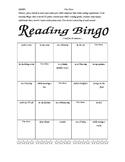 Reading Log Bingo