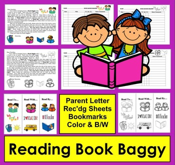 Reading Log Book Baggy and Parent Letter and Bookmarks!