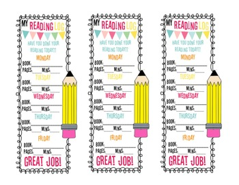 Reading Log / Book Log Bookmark {1ovakyndTeacher}