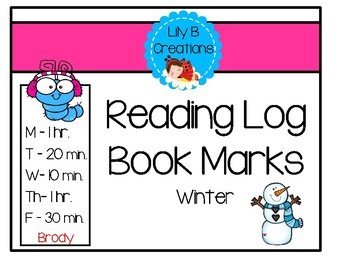 Reading Log Book Marks - Winter
