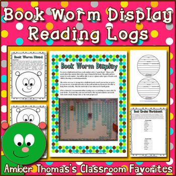 Reading Log Book Worm Bulletin Board